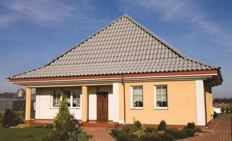 47. Combine a cor da telha colonial com a tinta da parede e outros revestimentos da sua casa – Por: Casa Brasilit