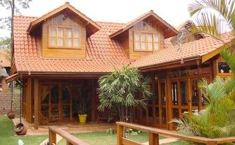 69. Use a telha colonial para ter um telhado resistente – Por: Pinterest