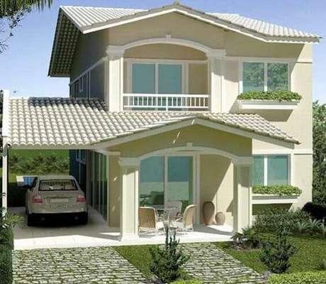 70. A telha colonial é perfeita para casas clássicas – Por: Pinterest