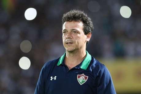 O técnico Fernando Diniz do Fluminense durante a partida entre Santa Cruz e Fluminense