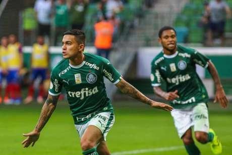 Dudu fez dois gols contra o Bahia, no domingo passado (Foto: Reprodução/Twitter)