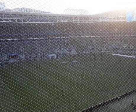 Rede no Allianz Parque tem gerado reclamação de torcedores visitantes (Foto: Reprodução)