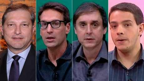 Da esq. para a dir., João Palomino, Arnaldo Ribeiro, Eduardo Tironi e Rafael Oliveira (Foto: Reprodução)