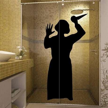 26. Adesivo para box de banheiro com temática de terror. Fonte: Pinterest
