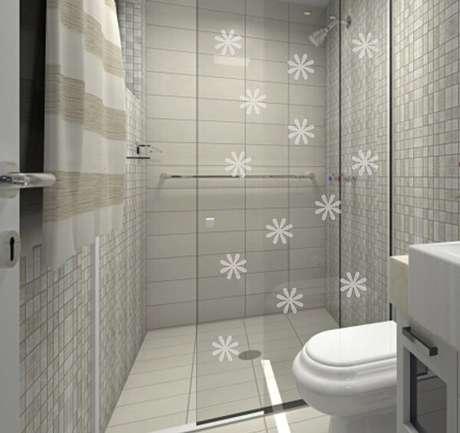 32. Adesivo para box de banheiro jateado delicado. Fonte: Pinterest