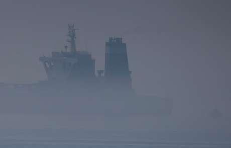 Navio iraniano Grace 1  no Estreito de Gibraltar 15/8/2019 REUTERS/Jon Nazca