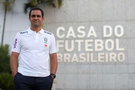 André Jardine será oficializado pela CBF, nesta sexta-feira, como treinador da Seleção olímpica (Foto: Lucas Figueiredo/CBF)