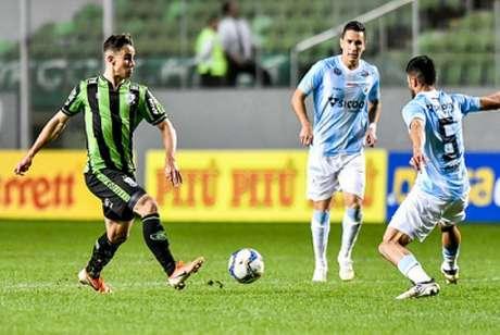 O Coelho fez um grande jogo diante do Londrina, vencendo pela primeira vez em casa e espera repetir a atuação diante da equipe do Mato Grosso- (Mourão Panda/América-MG)