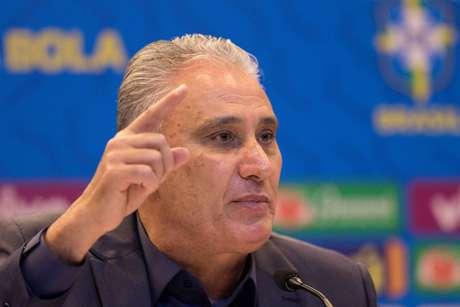 O técnico Tite anuncia a lista de convocados para amistosos da Seleção Brasileira, nesta sexta-feira, 16, na sede da CBF