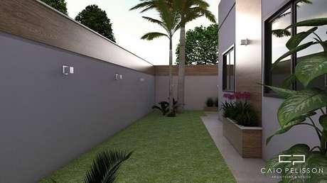 52. Arandelas externas para muro em projeto moderno de arquiteto Caio Pelisson