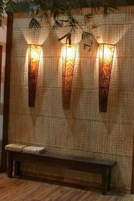 40. Arandelas externas em estilo tribal. Projeto de Idalia Daudt