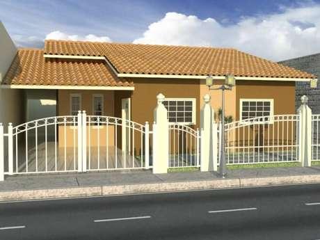 39 – Modelo de fachada para casas pequenas.