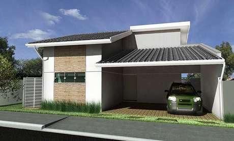 40 – Estilo casa simples de fachada para casas pequenas.