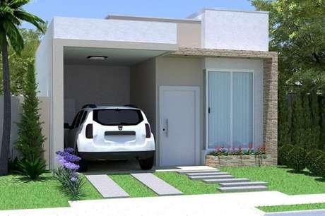 44- Fachada para casas pequenas e contemporâneas.