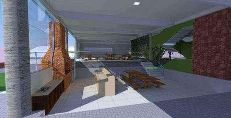 58. O projeto de churrasqueira de tijolo deve ser muito bem elaborado. Projeto de Grupo PR Arquitetura