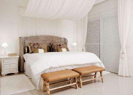 63. Cores para quartos clean com cortinas brancas – Por: Priscila Koch