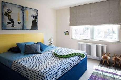 66. Cores para quartos nos tons azul e amarelo – Por: Csfd Arquitetura