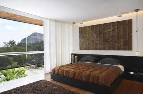 70. Cores para quartos nas cores marrom e preto – Por: Fernanda Pessoa de Queiroz