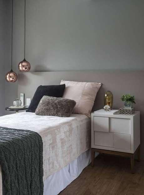 71. Cores para quartos com pendente rose gold – Por: Revista VD