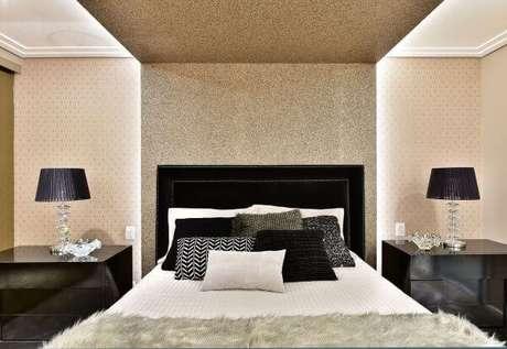 72. Cores para quartos nas cores preto e branco – Por: Tetriz Arquitetura e interiores