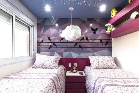 74. Cores para quartos de meninas em lilás e roxo – Por: Andre Freitas