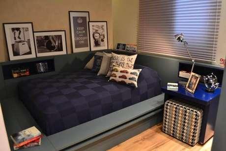 47- Tons mais escuros são mais escolhidos como cores para quartos de meninos.