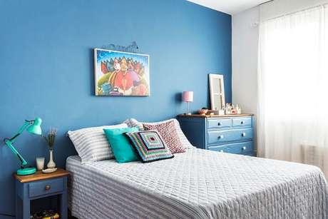 9- As cores para quartos devem combinar com os tons dos móveis. Fonte: Casa Claudia