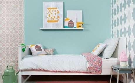 10- As cores para quartos infantis podem ser combinadas para destacar a decoração. Fonte: Dicas de Mulher