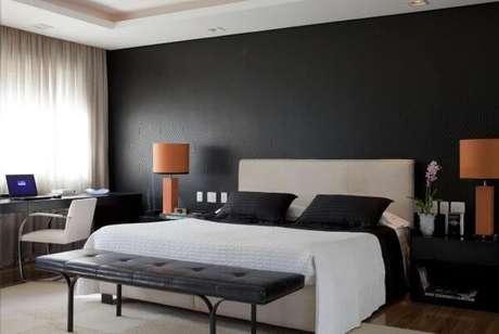77. Cores para quartos moderno preto e branco – Por: Beto Galvez Norea de Vitto