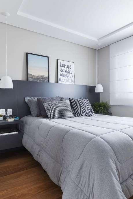 78. Cores para quartos em tons de cinza – Por: Sp Studio
