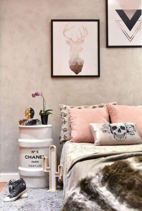 84. Cores para quartos rose gold com preto – Por: Revista VD