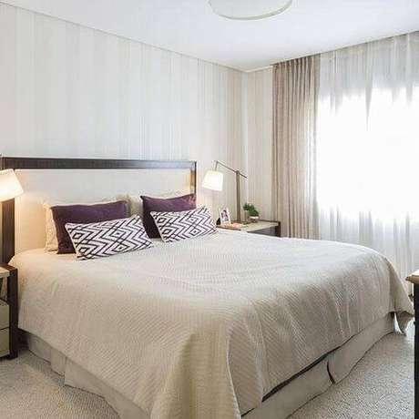 43- Cores para quarto mais suaves deixam o ambiente mais aconchegante. Projeto por BMG Arquitetura.