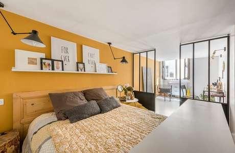 14- As cores para quartos em tons fortes devem ser pintadas em apenas uma parede. Fonte: Blog da Cristiano Casa e Construção