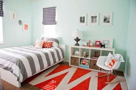 6- As cores para quartos infantis devem levar ao ambiente calma e tranquilidade. Fonte: Pinterest