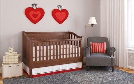 15- As cores para quartos de bebê devem ser claros e suaves. Fonte: Pinterest