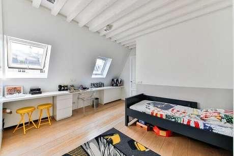 24- As cores para quartos em tons neutros ajudam a decorar com mais facilidade o ambiente. Fonte: Blog da Arquitetura