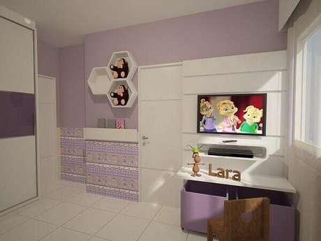 25- As cores para quartos infantis devem combinar com a personalidade da criança. Fonte: Clarissa Sarahiva
