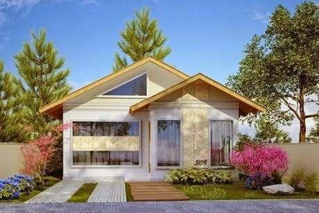 37. O paisagismo pode fazer toda a diferença na fachada de sua casa simples