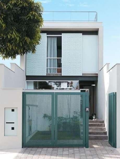 34. Fachada para casas pequenas modernas.
