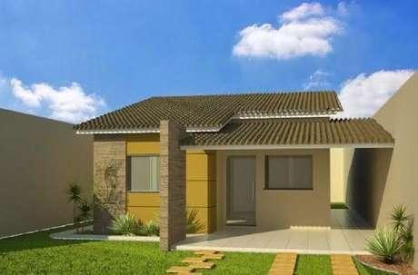 36. Se possível tenha gramado na fachada da sua casa simples.