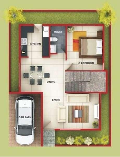 9. Com um projeto de casa pequena bem planejado, é possível até ter lugar para garagem.