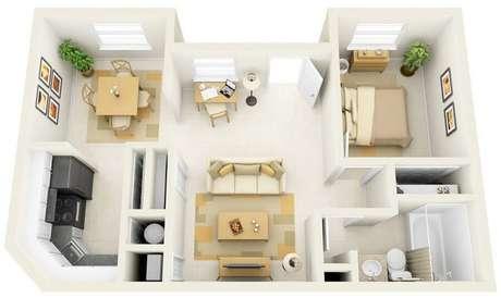 21. A casa pequena tem que ser bem clara para dar a sensação de que o ambiente é maior