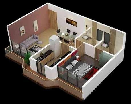 10. Projeto de casa pequena com suíte