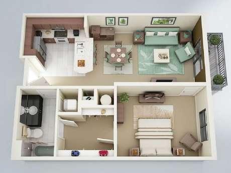 6. Casa pequena com sala bem espaçosa para receber bem as visitas