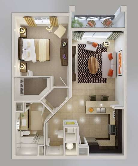 15. Projeto de casa pequena bem estruturada