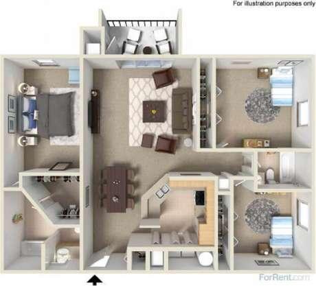 4. Plantas de casas pequenas bem planejadas podem ganhar até três quartos