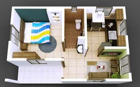 5. Planta de casa pequena e simples