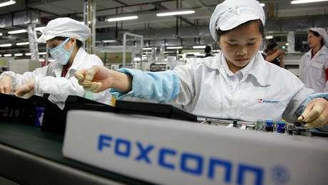 A maioria dos iPhones e outros dispositivos da Apple são montados na Foxconn, fabricante do grupo taiwanês Hon Hai Precision