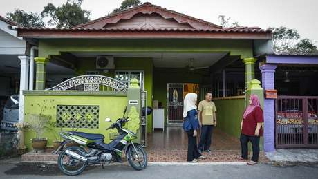 Casa da família de Siti em Padang Lembek