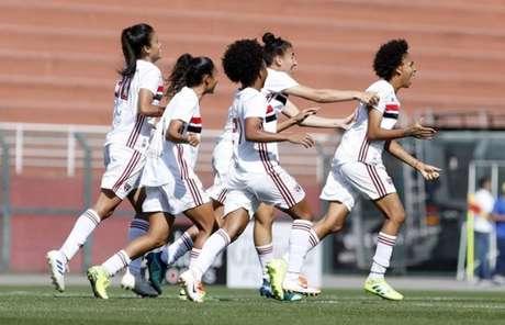 São Paulo abriu vantagem de 4 a 0 na primeira final do BR Feminino A2 (Foto: Anderson Rodrigues/saopaulofc.net)